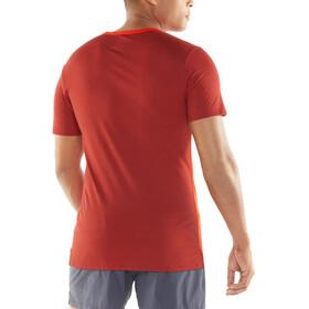 Icebreaker Amplify SS Crewe Shirt Men chili red/sienna